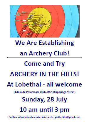 Archery in the Hills flyer