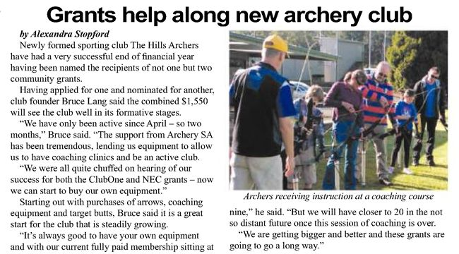Active Clubs grant
